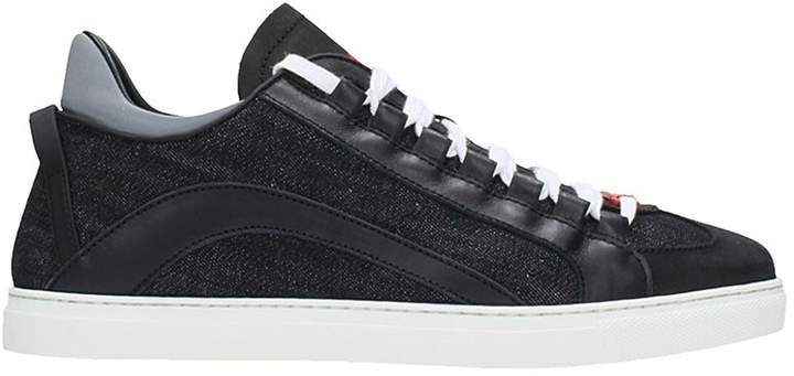 DSQUARED2 551 Black Denim Sneakers