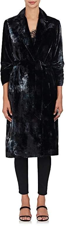 Raquel Allegra Women's Velvet Belted Trench Coat