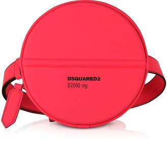 DSQUARED2 Neon Pink Gommato Leather Pill Crossbody/Belt Bag