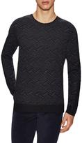 Vince Wool Intarsia Rib Sweater