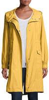 Eileen Fisher Hooded Long Anorak Jacket, Petite