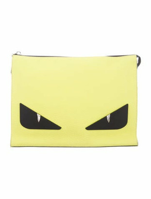Fendi Bag Bugs Clutch Neon