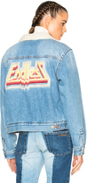 Etoile Isabel Marant Camden Denim Jacket in Medium Blue