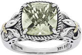 FINE JEWELRY Shey Couture Green Quartz Sterling Silver Antiqued Ring