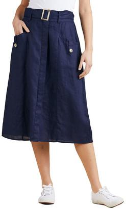 Gordon Smith A-Line Linen Skirt