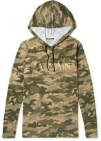 Balmain Camouflage-Print Cotton-Jersey Hoodie