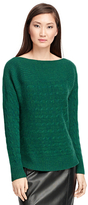 Brooks Brothers Cashmere Cable Boatneck Sweater