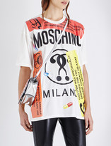 Moschino Capsule-print oversized cotton-jersey t-shirt