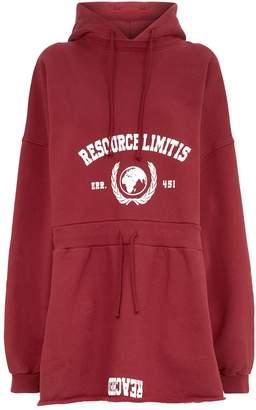 Vetements Cotton Hacker Hoodie Dress