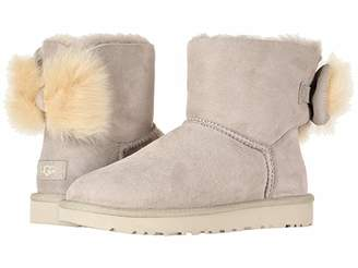 UGG Fluff Bow Mini (Suntan) Women's Pull-on Boots