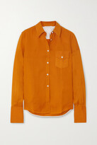 Thumbnail for your product : Peter Do Voile Shirt - Orange