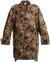 MYAR Oversized camouflage-print cotton shirtdress