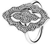 Pandora Silver Cz Sparkling Lace Ring.