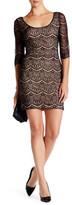 GUESS 3/4 Length Sleeve Lace Sheath Dress