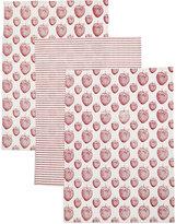 Marks and Spencer Set of 3 Strawberry Print Tea Towel