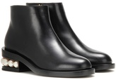 Nicholas Kirkwood Casati Embellished Leather Ankle Boots