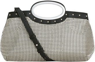 Whiting & Davis Studded Handle Clutch