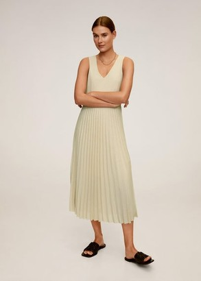 MANGO Pleated midi dress cherry - 2 - Women