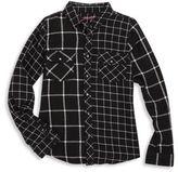 Blank NYC Girl's Windowpane Shirt