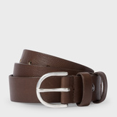 Paul Smith Men's Brown Leather Double Keeper Belt