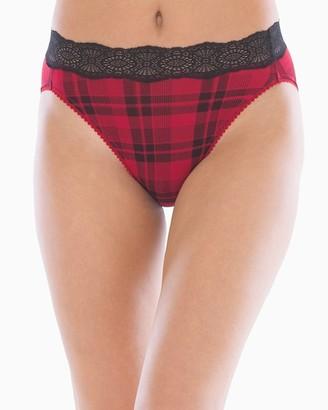 Soma Intimates Embraceable Super Soft Geo High Leg