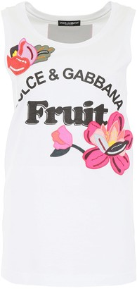 Dolce & Gabbana Embroidered Tank Top