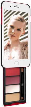 Sheer Glow Kit Makeup Case For iPhone Plus Black & Red Case