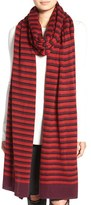 Rebecca Minkoff Women's Stripe Knit Blanket Scarf
