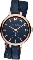 Marc Jacobs Women's Sally Blue Double Wrap Leather Strap Watch 36mm MBM8662