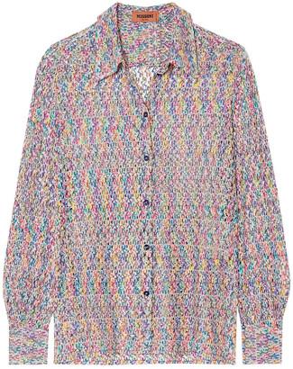 Missoni Crochet-knit Shirt