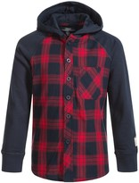 Silver Jeans Plaid Hooded Shirt - Long Sleeve (For Little Boys)