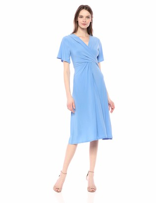 Chaus Women's Flutter SLV V-Neck Dress