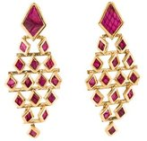 Kara Ross Python Clip On Drop Earrings