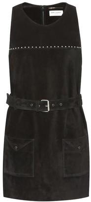 Saint Laurent Studded suede dress