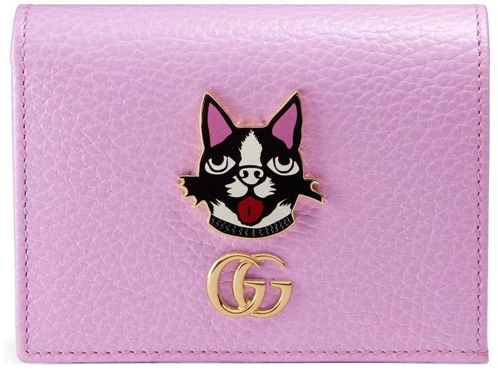 Gucci Leather card case with Bosco