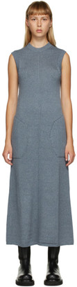 Peter Do SSENSE Exclusive Blue Knit Sleeveless Dress
