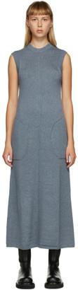 Peter Do SSENSE Exclusive Blue Knit Sleeveless Dress