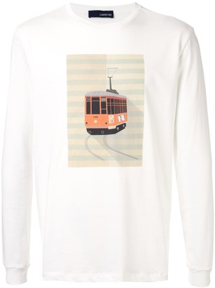 Lardini Graphic Print Jersey Top