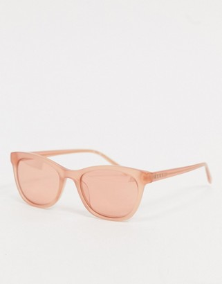 DKNY In Motion round sunglasses in pink