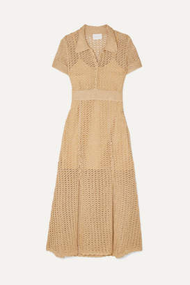Alice McCall Bijou Bijou Metallic Crochet-knit Midi Dress - Gold