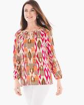 Chico's Feminine Ikat Cut-Out Tunic