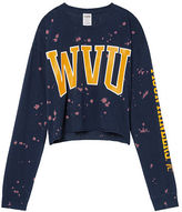 PINK West Virginia University Cropped Long Sleeve Campus Tee