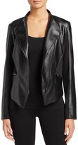 T Tahari Oriana Faux Leather Jacket