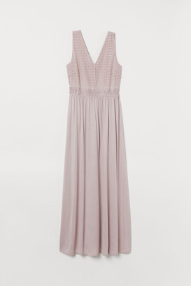 H&M V-neck Maxi Dress - Pink
