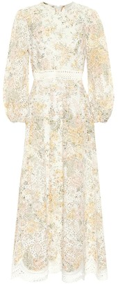 Zimmermann Amelie floral linen midi dress