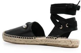 Coliac Ankle-Tie Leather Espadrilles
