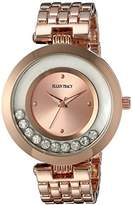 Ellen Tracy Women's Quartz Metal and Alloy Watch, Color:Rose Gold-Toned (Model: ET5199RG)