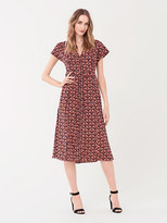 Diane von Furstenberg Davina Stretch-Georgette Midi Dress