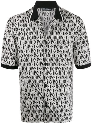 Dolce & Gabbana all-over print polo shirt