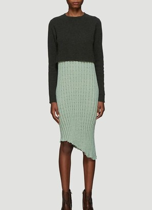 J.W.Anderson Contrast Panel Pleated Dress